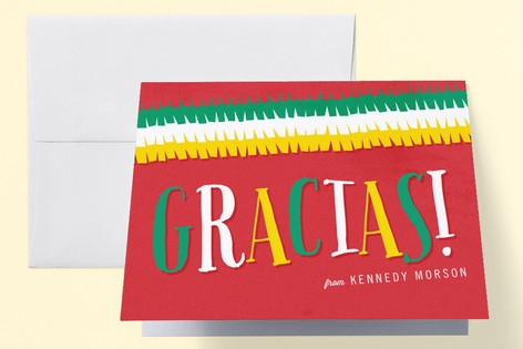 Fiesta Birthday Childrens Birthday Party Thank You Cards