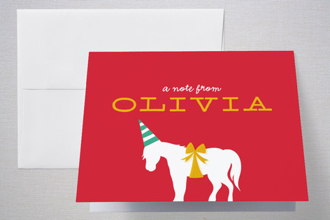 Farm Party Childrens Birthday Party Thank You Cards