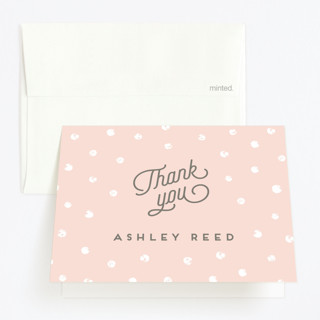 Dotted One Childrens Birthday Party Thank You Cards