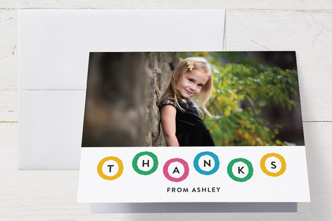 Hip Hip Hoo Ray Childrens Birthday Party Thank You Cards