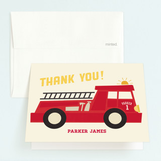 Five Alarm Childrens Birthday Party Thank You Cards