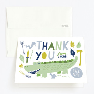Let's Get Wild Childrens Birthday Party Thank You Cards