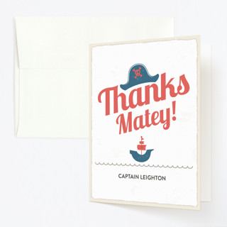 Pirate Adventure Childrens Birthday Party Thank You Cards