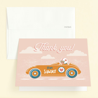 Speed time Childrens Birthday Party Thank You Cards