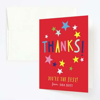 Skate Date Childrens Birthday Party Thank You Cards