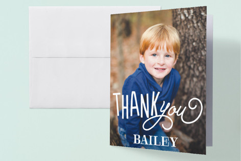 Birthday Cake Childrens Birthday Party Thank You Cards