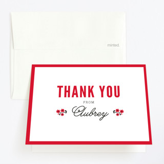 cooking school Childrens Birthday Party Thank You Cards