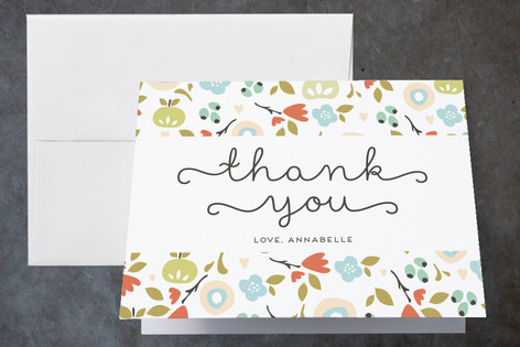 Orchard Blossoms Childrens Birthday Party Thank You Cards