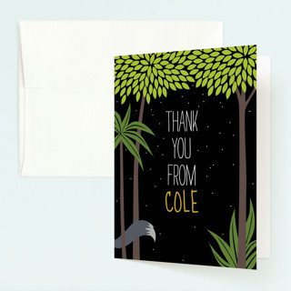 Our Wild Thing Childrens Birthday Party Thank You Cards