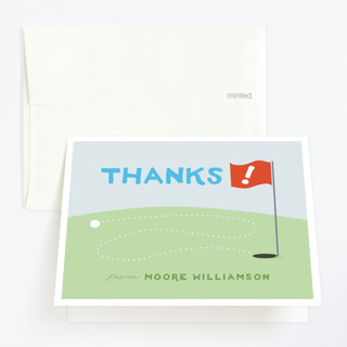 Mini Golfers Childrens Birthday Party Thank You Cards