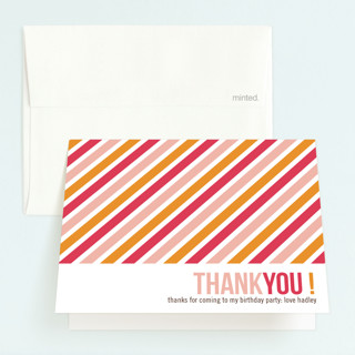 Birthday Type Childrens Birthday Party Thank You Cards