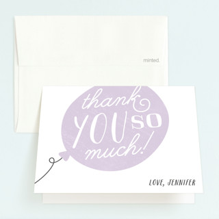 Big Balloon Childrens Birthday Party Thank You Cards