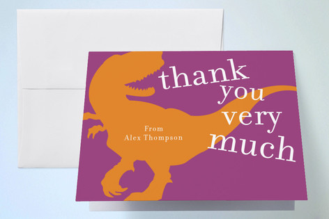 T-rex party Childrens Birthday Party Thank You Cards