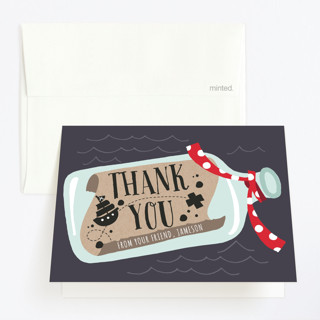 Message In A Bottle Childrens Birthday Party Thank You Cards