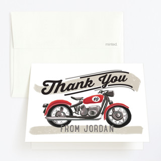birthday rider Childrens Birthday Party Thank You Cards
