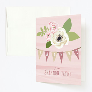Sophisticated One Childrens Birthday Party Thank You Cards