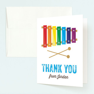 Musical Instruments Childrens Birthday Party Thank You Cards