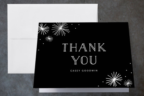 Simple Stars Childrens Birthday Party Thank You Cards