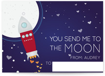 To the Moon Classroom Valentine&#039;s Day Cards