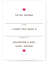 Fill in the Blank Classroom Valentine's Day Cards
