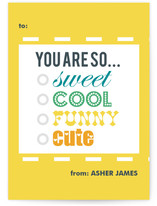 You are so.... Classroom Valentine&#039;s Day Cards