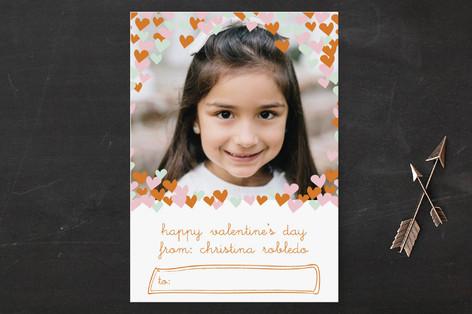 confetti hearts Classroom Valentine's Day Cards