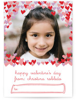confetti hearts Classroom Valentine&#039;s Day Cards