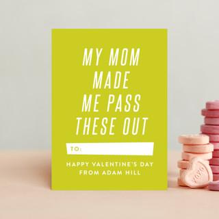 Mom Made Me Classroom Valentine's Cards
