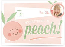 You&#039;re a Peach Classroom Valentine&#039;s Day Cards