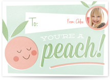 You're a Peach Classroom Valentine's Day Cards