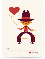 Be Mine Cowboy Classroom Valentine&#039;s Day Cards