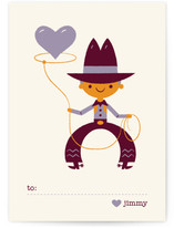 Be Mine Cowboy Classroom Valentine's Day Cards