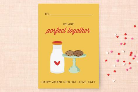 Milk & Cookies Classroom Valentine's Day Cards