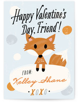 Fox Friend Classroom Valentine's Day Cards