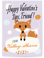 Fox Friend Classroom Valentine&#039;s Day Cards