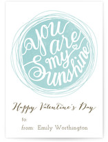 You Are My Sunshine Classroom Valentine's Day Cards