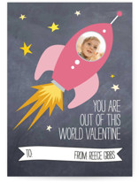 Rocket Love Classroom Valentine&#039;s Day Cards