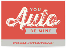 Auto Be Mine Classroom Valentine's Day Cards