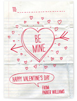 Handwritten Love Note Classroom Valentine&#039;s Day Cards