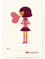 Be Mine Bubblegum Classroom Valentine's Day Cards