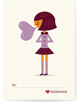 Be Mine Bubblegum Classroom Valentine&#039;s Day Cards