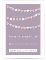 String of Hearts Classroom Valentine&#039;s Day Cards