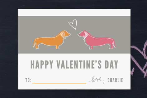 Puppy Love Classroom Valentine's Day Cards