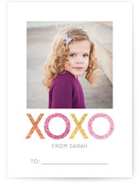 Sparkling XOXO Classroom Valentine&#039;s Day Cards