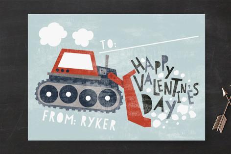 Bulldozer Classroom Valentine's Cards