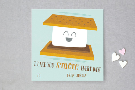 I Like You S'More Every Day Classroom Valentine's Cards