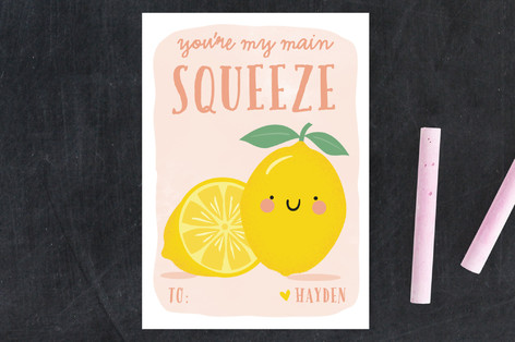 Main Squeeze Classroom Valentine's Cards