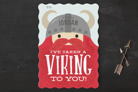 Viking to You Classroom Valentine's Cards