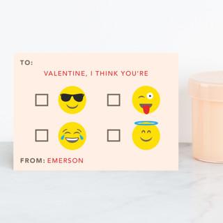 Emoji Valentine Classroom Valentine's Cards