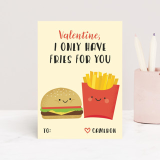 Fries with that? Classroom Valentine's Cards